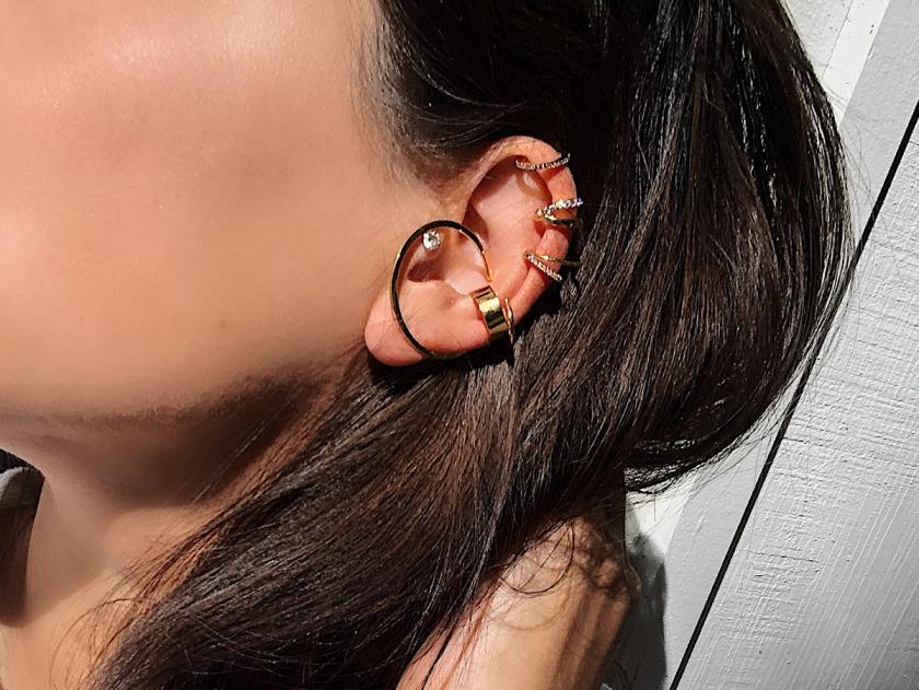 gold ear cuffs by maison miru