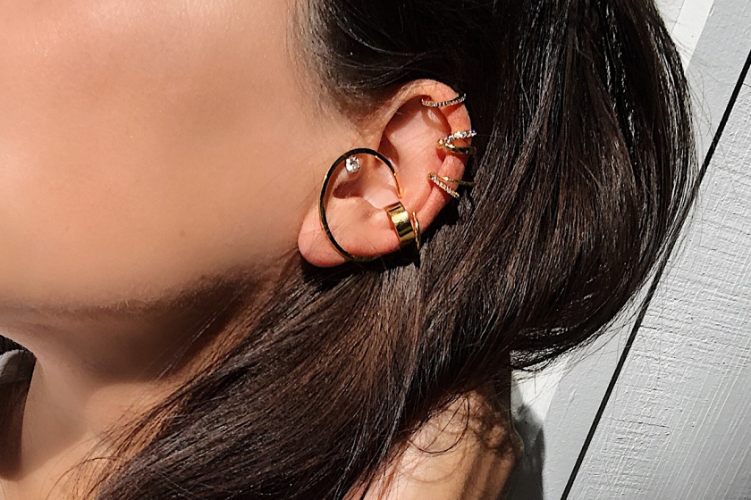 gold ear cuffs by maison miru