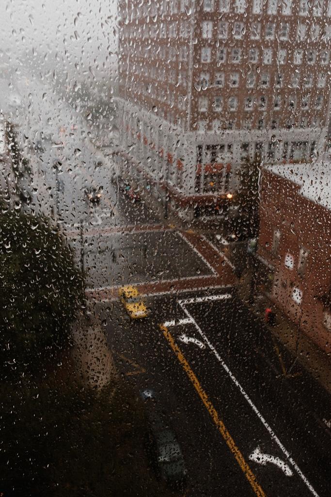 rainy outdoors nyc