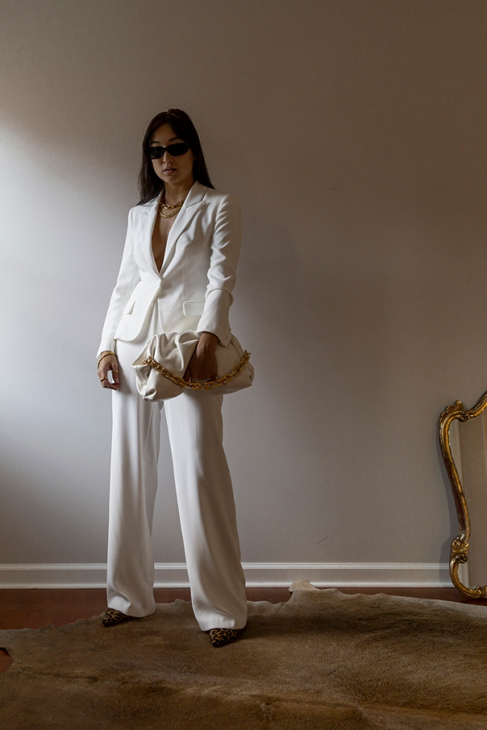 womens white suit with wide leg pants 2021