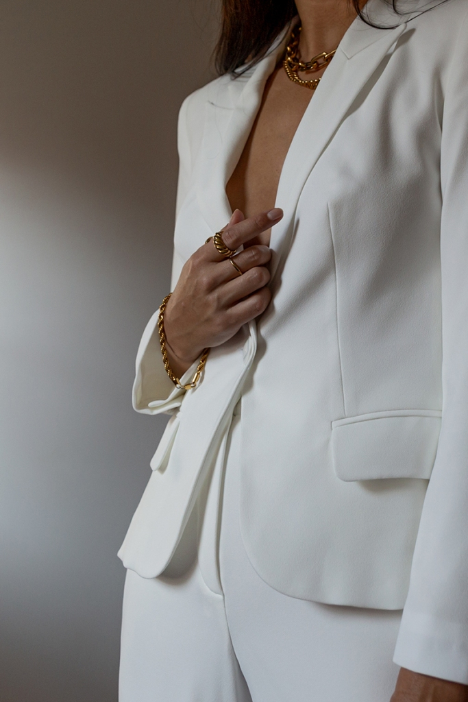 anne fontaine white lido blazer