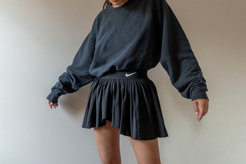 nike pleated skirt outfit ideas
