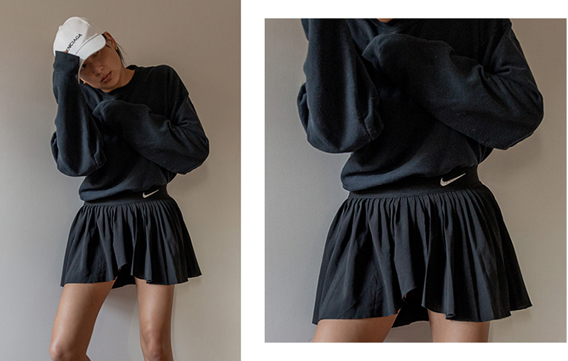 nike pleated skirt sporty outfit ideas